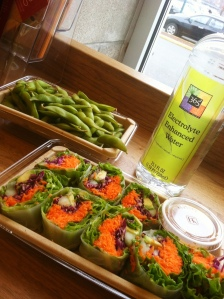 Lunch at Whole Foods. Summer Roll & Edamame