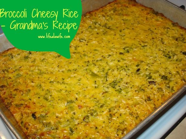 broccoli cheesy rice