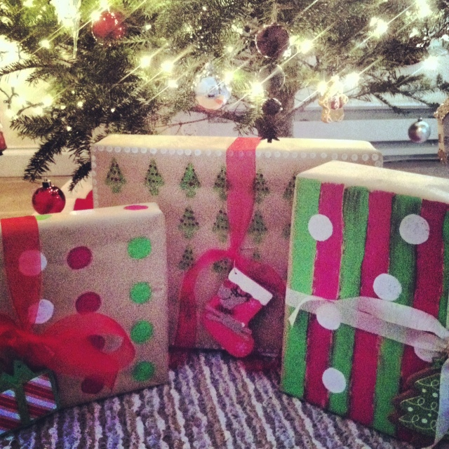 Painting wrapping paper