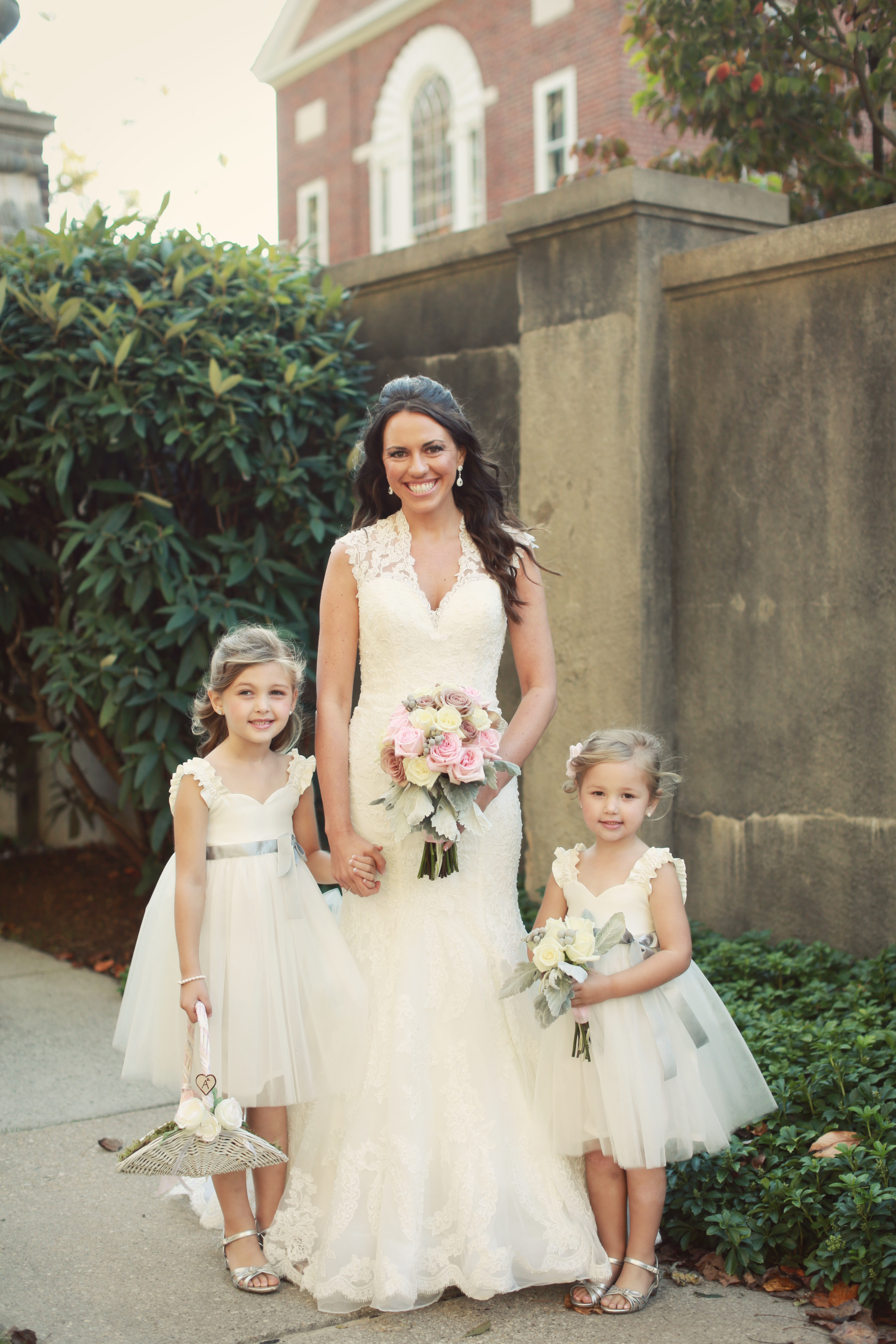 Wedding recap bridesmaids flower girls life a la wife and these two to melt my heart with the way the kept telling me i was so pretty and they loved my shoes by the way we ordered the flower girl mightylinksfo