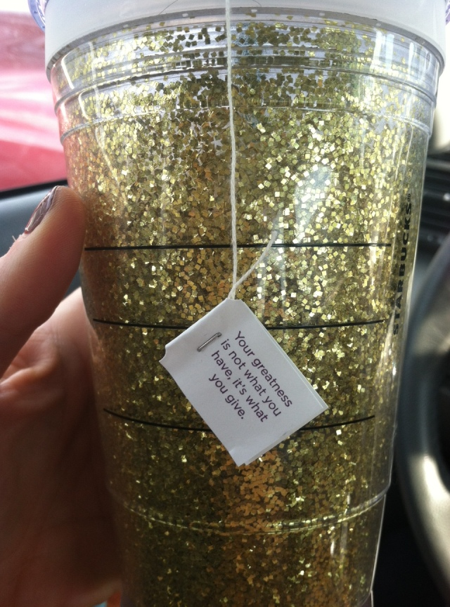 Green Tea (Thanks Britt for the cup!)