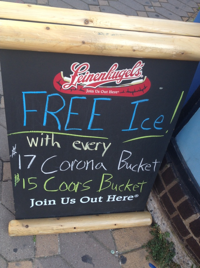 Free Ice. Sweet deal