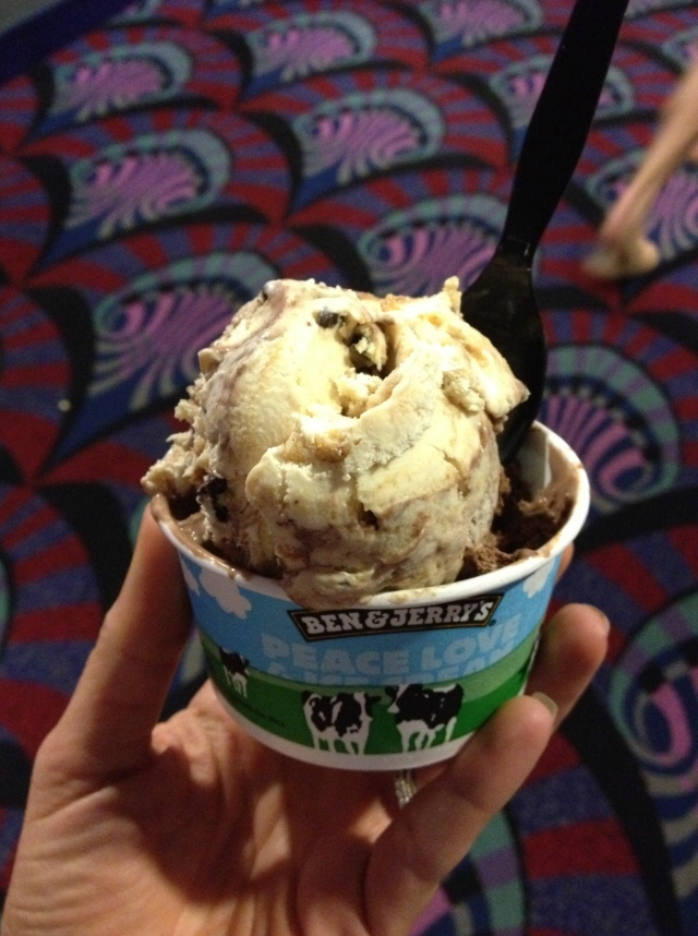 Ben & Jerry's Candy Bar Ice Cream at the movie theater. We saw We're the Miller's and it was HILARIOUS