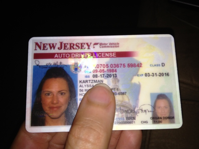 I'm officially a Kartzman! and...they don't let you smile for your license anymore.. NOT COOL