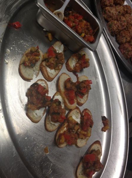 Ratatouille Crostini (with goat cheese!)